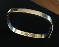 Lovely Sterling Hinged Square  Bracelet Medium Size  Free Shipping!