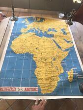 Grande Carte Publicitaire Les Messageries Maritimes Europe Afrique