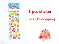 2018 cartoon food pattern Scrapbooking Paper Crafts Stickers handmade kids gifts