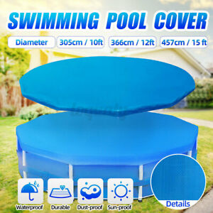10/12/15ft Swimming Pool Cover Lot for Garden Outdoor Paddling Family Poo