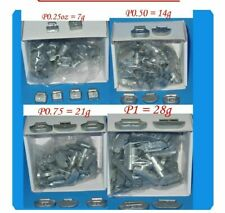 400 Pcs ASSORTMENT CLIP-ON WHEEL WEIGHT BALANCE P STYLE 0.25 0.50 0.75 1.00 oz
