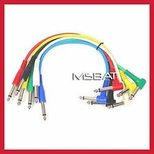 "Patch Cables 1/4"" Angle/Straight RA/ST 6-Pack 1ft"