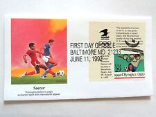 """June 11th, 1992 """"Soccer"""" 1992 Olympics First Day Issue"""