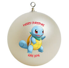 Personalized Pokemon Squirtle Christmas Ornament Gift Add Name