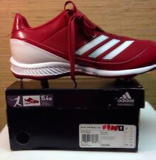 NEW Adidas Performance Excel 365 Metal Baseball Cleats 13 Red/white