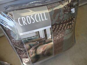 CROSCILL GALLERIA TUSCAN OLD WORLD BROWN BLUE (4PC) QUEEN COMFORTER SET