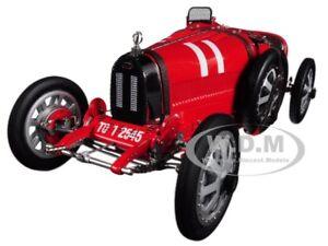 BUGATTI T35 #11 NATIONAL COLOUR PROJECT ITALY LTD ED 1/18 MODEL BY CMC 100B001