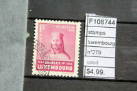 STAMPS LUXEMBOURG N°279 USED (F108744)