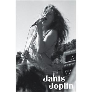 "JANIS JOPLIN POSTER - PERFORMING AT WOODSTOCK 1969 - 91 x 61 cm 36"" x 24"""