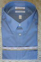 Roundtree Yorke Dress Shirt * Blue Micro Stripe * 18.5 - 38/39 TALL Man NWT