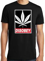 PubliciTeeZ Big and Tall King Size Obey Parody Disobey Pot Leaf T-Shirt