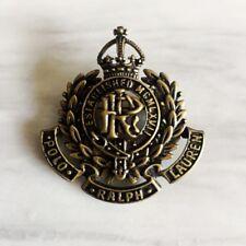 Genuine PRL Polo Ralph Lauren 100% Brass Brooch Breastpin Insignia Emblem Badge