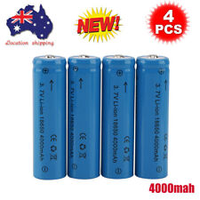 Boruit 3.7V 18650 4000mAh Li-Ion Rechargeable Battery - 4 Pieces