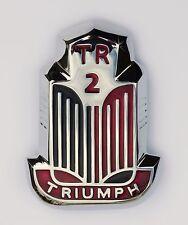 Triumph TR2 rot & schwarz Lack und Chrom Schutz Emblem/Medaillon, 601890