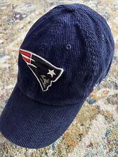 47 Brand New England Patriots NFL Navy Blue Corduroy Mens Hat Cap EUC