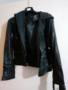 INFINITY Men's Real Goat Suede Leather Jacket Size XXL New w tags Retails £125