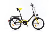 Bicicletta 20 Pollici Pieghevole Borsa Aurelia Nero da Passeggio Fanali Adulto