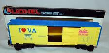 Lionel 6-19901 I Love Virginia is for Lovers Box Car Heart State Series O/027