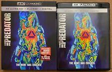THE PREDATOR 2018 4K ULTRA HD BLU RAY 2 DISC SET + SLIPCOVER SLEEVE FREE SHIPPIN