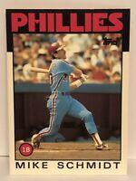 1986 Topps Tiffany Mike Schmidt baseball card Philadelphia Phillies #200 HOF MLB