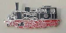 Pin/ Anstecker T3 Dampflok schwarz/rot/silber 4,5cm (P14)