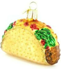Old World Christmas 32084 Glass Blown Taco Ornament
