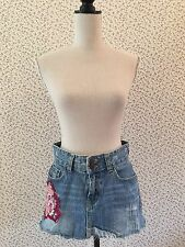 Abercrombie and Fitch Denim Skirt With Patchwork Detailing. Size 4 (UK 8)