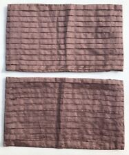 "Sheridan Signature Pillow Covers Rectangle Mocha Brown NWOT 11.5"" X 20"""