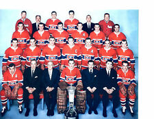 1962 MONTREAL CANADIENS 8X10 TEAM PHOTO HOCKEY NHL CANADA