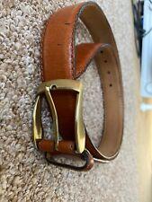 """Marks Ans Spencer's Men's Beltj Brown Leather Size 91-97cm 36-38"""""""