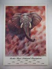 Alabama Crimson Tide Football ELEPHANT Signed Gale Osborne Lithograph Print