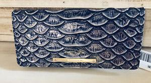 $125  Brahmin ADY Wallet DENIM CRUZ Snake Embossed Bi-Fold Leather NWT!!