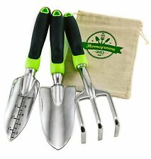 Homegrown Garden Tools 3-Piece Hand Gardening Tool Set & Tote Sack - Great Gift