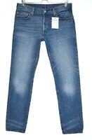 Womens Levis 501 Straight Leg Blue Mid Rise Cotton Jeans Size 12 W30 L32