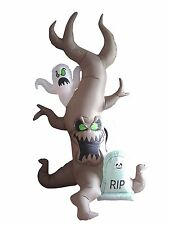 Halloween Air Blown Inflatable Yard Decoration Grave Scene with Ghost Tombstone