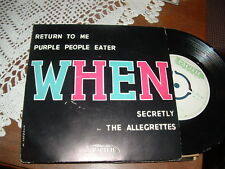 THE ALLEGRETTES -JOHNNY FRANK - TOMMY CLAYTON    E.P.  ITALY'5?  RARO
