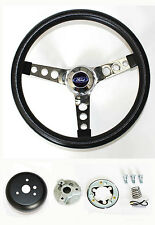 1949-56 Ford Pick Up F100-150 F250 F350 Grant Black Steering Wheel 13 1/2 Chrome