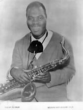 OLD MUSIC PHOTO Big Jay Mcneely Poses For A Portrait With His Saxophone