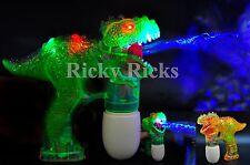 Dinosaur LED Bubble Gun Flashing Light Up Bubbles Blower Jurassic Dino Party