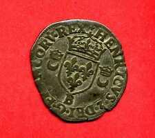 (Ref:MD.34) HENRI II DOUZAIN AUX CROISSANTS HENRI II 1551 (BOURGES) RARE