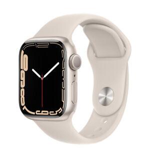 Apple Watch Series 7 GPS41mm/45mm Starlight Aluminum Case with Sport BandByFedEx