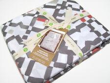 West Elm Multi Colors Organic Cotton Modern Mosaic King Duvet Cover New