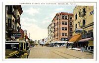 Telegraph Ave and Bancroft, Berkeley, CA Postcard *5D
