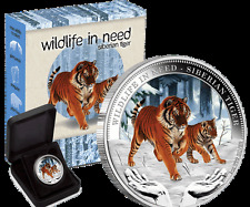 2012 $1 Wildlife in Need Series – Siberian Tiger 1oz Silver Proof Coin
