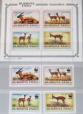 BURKINA FASO 1993 1298-01 Block 139 970-73a WWF Rotstirngazelle Gazella MNH