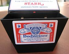 Budweiser Beer Playing Card and Bottle Cap Catcher  NIB  Bar Pub  Man Cave