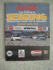 1980 The Coca Cola 12 Hours Of Sebring auto race program IMSA Camel GT Kendall