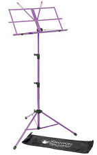 Jsi Purple Folding Sheet Music Stand with Carrying Bag - Friendly Service!