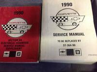 1990 Chevrolet Chevy CORVETTE Service Repair Shop Manual FACTORY PRELIMINARY SET