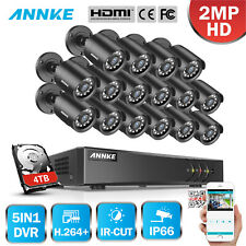 Annke H.264+ 16Ch 1080P Lite Dvr Security Camera System 2Mp 3000Tvl Night Vision